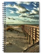 Boardwalk On The Beach Spiral Notebook