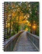 Boardwalk Sunset Spiral Notebook
