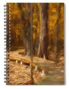 Boardwalk Through The Woods Spiral Notebook