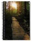 Boardwalk To The Sun Spiral Notebook