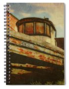 Boat At Apalachicola Spiral Notebook