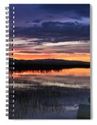 Boat At Sunset Spiral Notebook