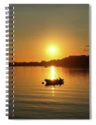 Boat At Sunset Glow Spiral Notebook