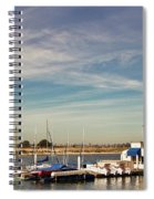 Boat Dock On The Bay Spiral Notebook