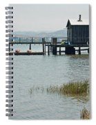 Boat House At Inverness  Spiral Notebook
