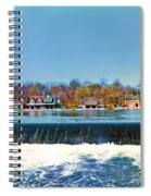 Boat House Row From Fairmount Dam Spiral Notebook