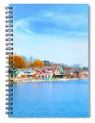 Boat House Row From West River Drive Spiral Notebook