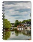 Boat House Row Two Spiral Notebook