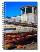 Boat In Dry Dock Spiral Notebook