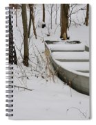 Boat In Winter Spiral Notebook