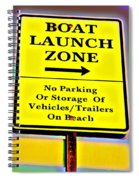 Boat Launch Spiral Notebook