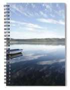 Boat On Knysna Lagoon Spiral Notebook