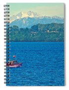 Boat On Llanquihue Lake From Puerto Varas-chile Spiral Notebook
