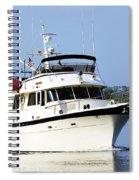 Boat On Pellicer Creek Spiral Notebook