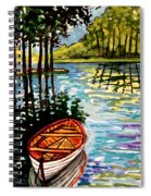 Boat On The Bayou Spiral Notebook