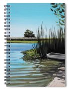 Boat On The Shadowed Beach Spiral Notebook