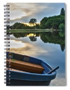 Boat On The Shore Of A Lake  Spiral Notebook