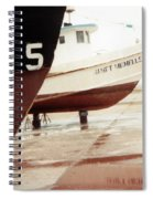 Boat Reflection 2 Spiral Notebook