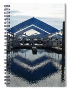 Boat Reflection On Lake Coeur D'alene Spiral Notebook