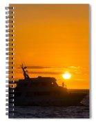 Boat Sunset Silhouette Spiral Notebook