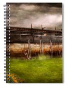 Boat - The Construction Of Noah's Ark Spiral Notebook