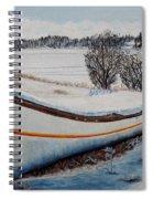 Boat Under Snow Spiral Notebook