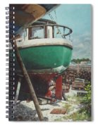 Boat Yard Boat 01 Spiral Notebook