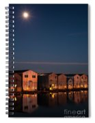 Boathouse Reflections With Moonset Spiral Notebook