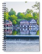 Boathouse Row - Framed In Spring Spiral Notebook