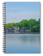 Boathouse Row From Mlk Drive - Philadelphia Spiral Notebook