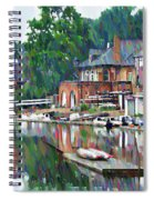 Boathouse Row In Philadelphia Spiral Notebook