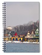 Boathouse Row On A Winter Morning Spiral Notebook