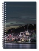 Boathouse Row Philly Pa Night Spiral Notebook