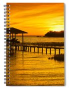 Boathouse Sunset Spiral Notebook