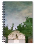 Boathouses With Sky And Trees Spiral Notebook