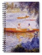 Boating At Argenteuil 1873 Spiral Notebook