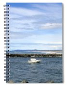 Boating At Bandon Spiral Notebook
