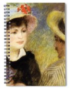 Boating Couple Aline Charigot And Renoir 1881 Spiral Notebook