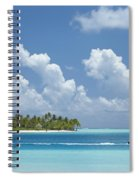 Boating In A Tahitian Lagoon Spiral Notebook