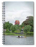 Boating In Thorpeness Spiral Notebook