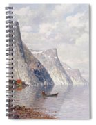 Boating On A Norwegian Fjord Spiral Notebook