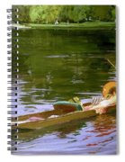 Boating Scene At Maidenhead Sir John Lavery Spiral Notebook