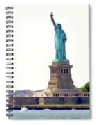 Boating With Liberty Spiral Notebook