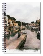 Boats Anchored Spiral Notebook