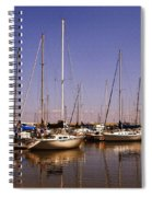 Boats And Reflections Spiral Notebook