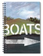 Boats- Art By Linda Woods Spiral Notebook