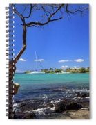 Boats At Anaehoomalu Bay Spiral Notebook
