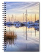 Boats At Calm Spiral Notebook