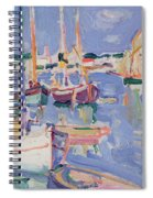 Boats At Royan Spiral Notebook