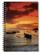 Boats At Senggigi Spiral Notebook